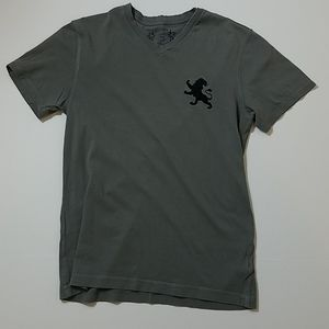 Express v-neck gray large lion short sleeve t-shir